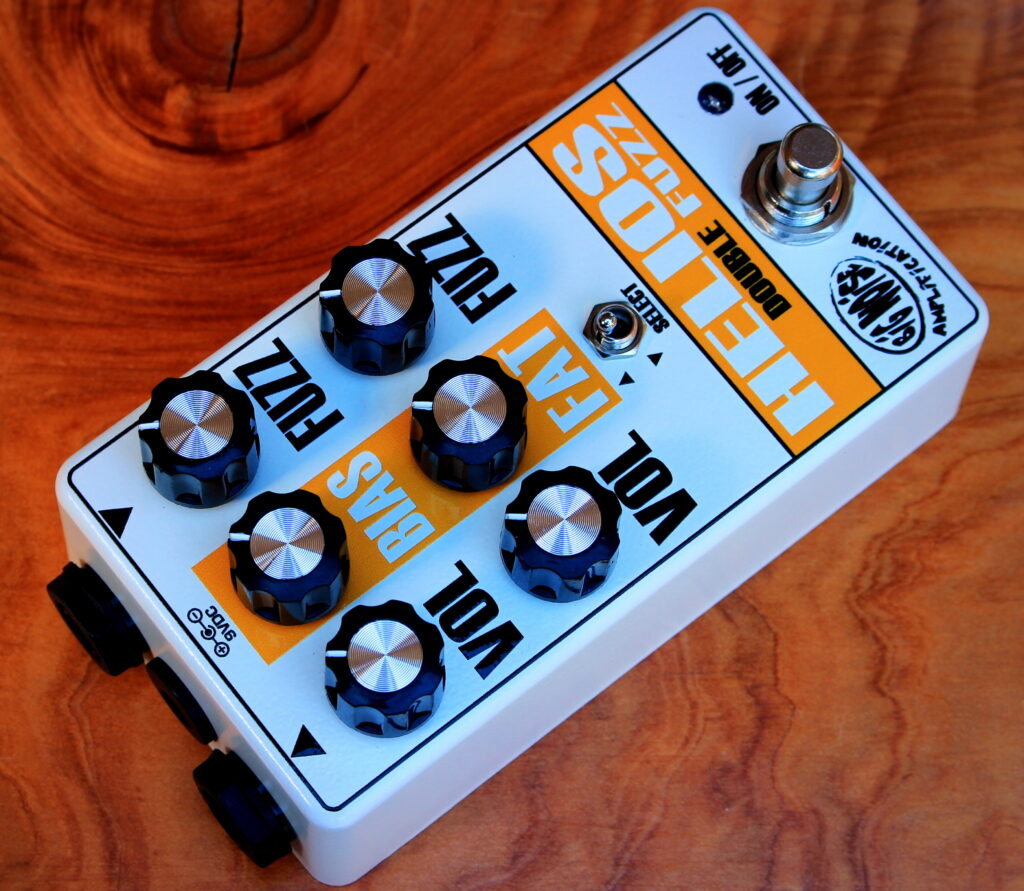 Fuzz guitar effects boxes